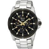 SEIKO Criteria 太陽能精英時尚腕錶(V14J-0BK0K )-金時標