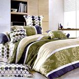 《格林尼致》雙人加大四件式舖棉兩用被床包組