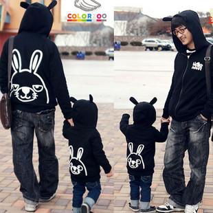 韓版冬款刷毛《小兔一家》長袖親子裝@四件組【預購款】