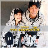 韓國冬款刷毛《貓與老鼠》連帽外套~長袖親子裝@三件組【預購款】