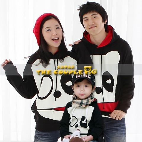 韓國冬款刷毛《神氣酷巴狗-黑衣》長袖親子裝@三件組【預購款】