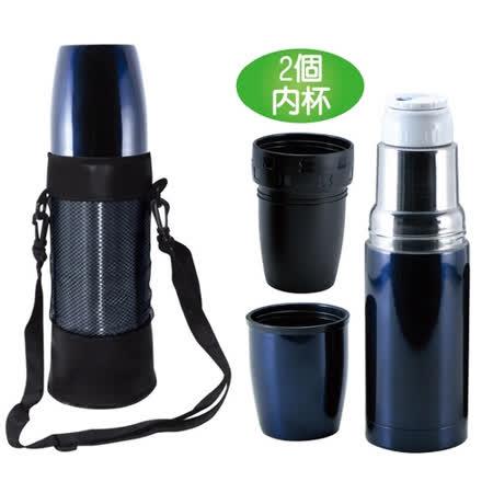 任選《鵝頭牌》真空烤漆魔法瓶中杯(附內杯) CI-900