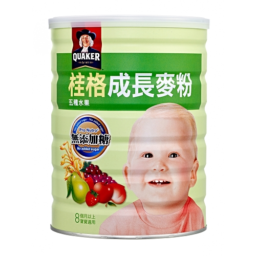 桂格成長麥粉~BIO益菌多配方~五種水果500g