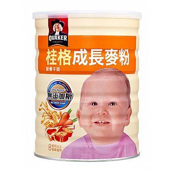 桂格成長麥粉BIO益菌多配方-排骨/干貝500g