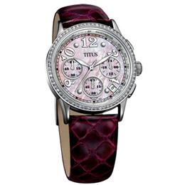 TITUS 都會三眼淑女計時腕錶