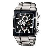 CASIO EDIFICE 野性型男賽車腕錶EFX-501D-1 黑色