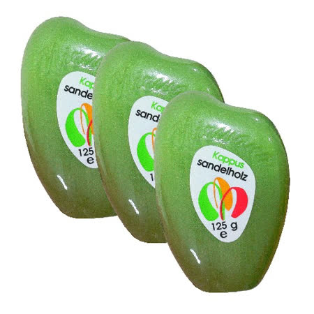 (超值三入)德國進口Kappus銀杏香水皂