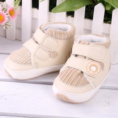 KUKI 酷奇舒適棉布學步鞋/寶寶鞋/高筒鞋☆男童鞋☆s2026
