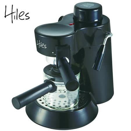 iles義式高壓蒸氣咖啡機-寧靜黑 HE-301