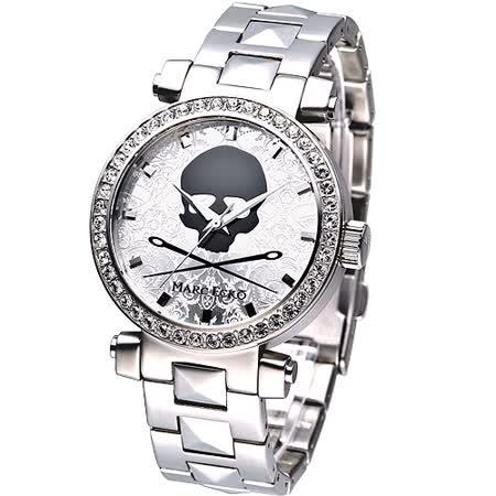 【私心大推】gohappy線上購物MARC ECKO 龐克戰士骷髏圖騰晶鑽腕錶推薦sogo 天母 館