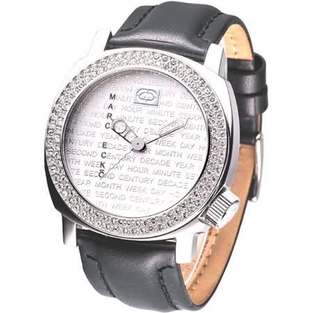 MARC ECKO 優質型男時尚晶鑽腕錶