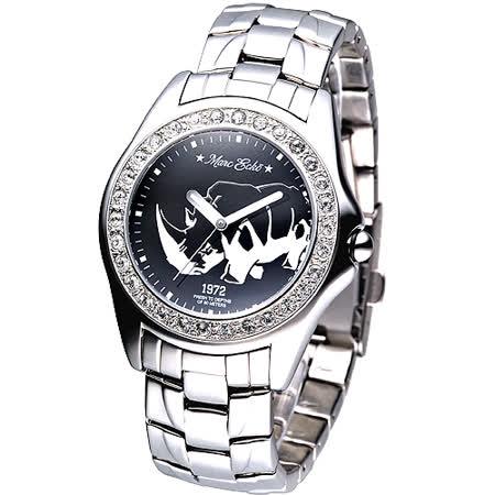 MARC ECKO 經典犀牛圖騰名流晶鑽腕錶