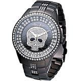 MARC ECKO 龐克精靈時尚晶鑽錶(IP黑)