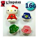 【限量版】Kingston 金士頓 16GB USB 2.0 HelloKitty 隨身碟-公司貨(三麗鷗授權)