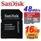 【代理商公司貨】SanDisk 16GB Ultra microSD UHS-I C10 320X 記憶卡