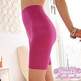 【安吉絲】560丹超薄無痕剪裁‧魔鬼S曲線纖腰翹臀束褲/S-XL(桃紅)