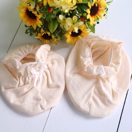 (購物車)  KUKI  台灣製卡其細條紋寶寶內著~初生嬰兒腳套~k01283~台灣製造~嬰幼兒內著