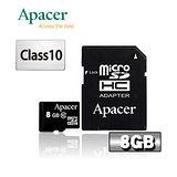 Apacer宇瞻 8GB microSDHC Class10記憶卡
