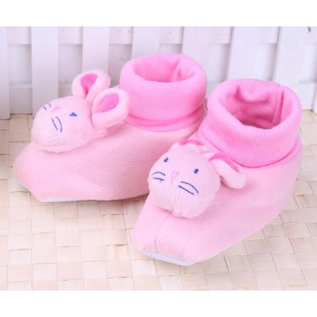 (購物車)KUKI 酷奇超可愛立體小兔公仔學步鞋/寶寶鞋/寶寶襪☆女童鞋☆s9513