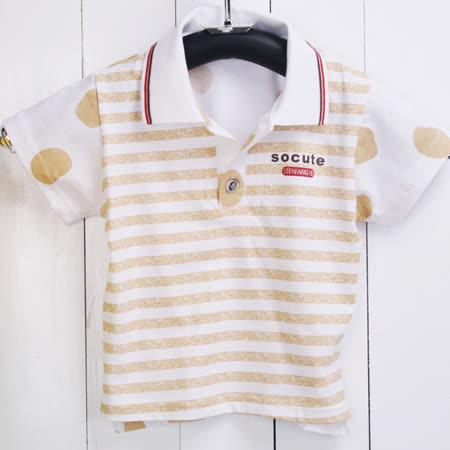 (購物車)★ 魔法Baby ★【KUKI 酷奇日單精梳純棉印花短袖POLO衫☆男童裝☆k16666】