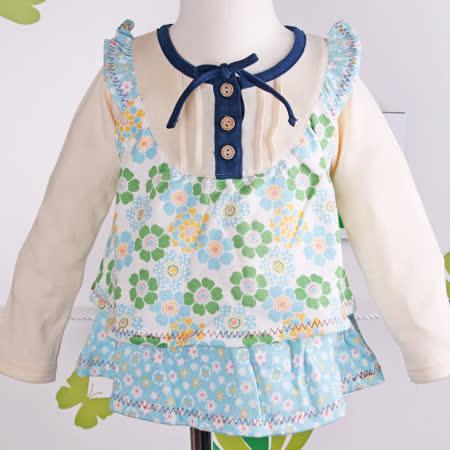 (購物車)★ 魔法Baby ★日單棉柔小花假兩件洋裝/娃娃裝☆女童裝☆k05236