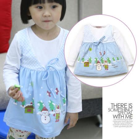 (購物車)★ 魔法Baby ★【日單超可愛小公主假二件洋裝☆女童裝☆k05472】