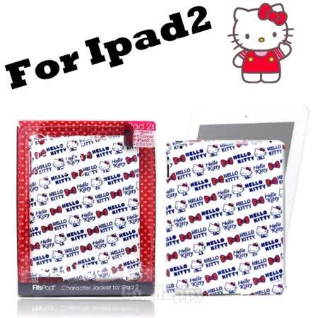 【日本限定】HELLO KITTY白色小臉iPad2背殼/外殼