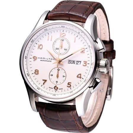 Hamilton漢米爾頓表爵士大師系列 計時機械錶-(H32766513)白色款