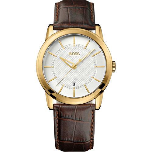 Hugo Boss 紳士家德式復刻腕錶(H1512623)-金