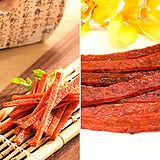 【台灣農畜】黑胡椒鮪魚肉乾120g/ 厚切蜜汁豬肉乾120g -任選8包組(含運)