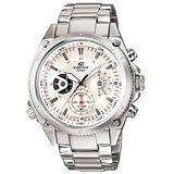 CASIO EDIFICE 極速重裝碼表計時賽車錶(金屬白)