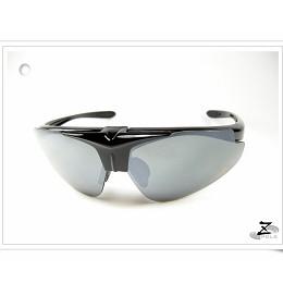 【視鼎Z-POLS旗艦系列烤漆酷炫黑款】可佩度數頂級可掀全新亮面系UV4運動型太陽眼鏡,全新上市