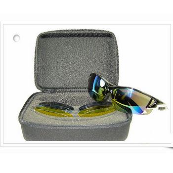 【視鼎Z-POLS比賽級專業系列款】烤漆質感黑五組可換鏡多功能UV4運動太陽眼鏡,(附贈原廠收納盒),全新烤漆款上市!