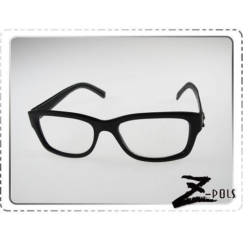 ~ 代理 ~潮流日雜復古街頭中性皮革版 消光黑  最愛平光眼鏡新上市