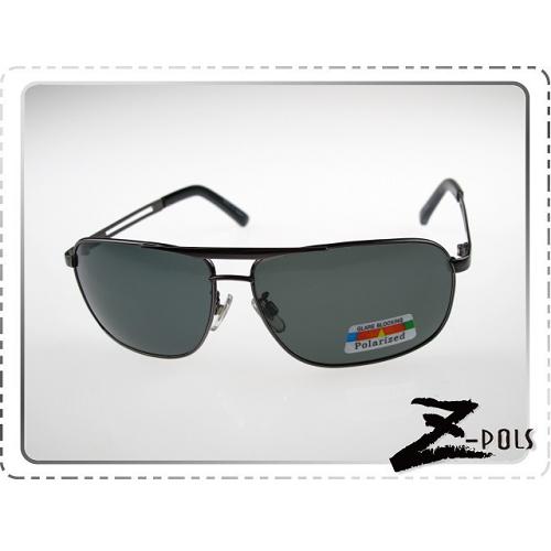 ☆視鼎Z-POLS專業代理新款偏光鏡☆金屬簍空雷朋風格設計 復古寬版框質感款 寶麗來偏光太陽眼鏡