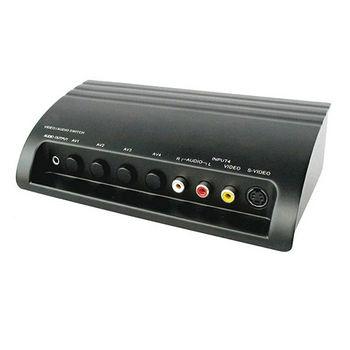 PX大通 4進1出AV+S訊號切換器AV-41M