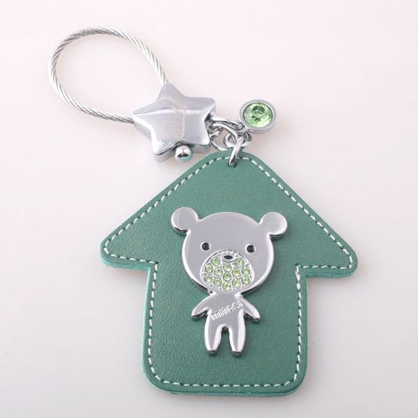 ★魔法Baby★小熊屋+綠水晶吊飾~流行精品,飾品~m0008