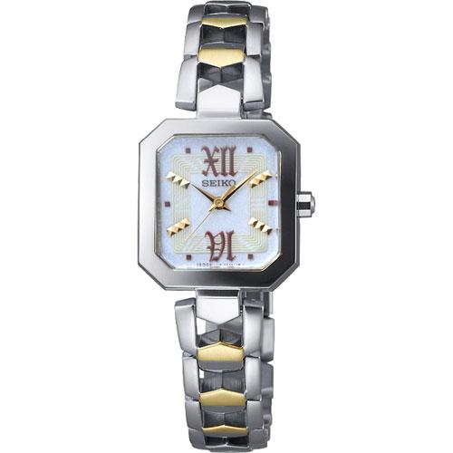 SEIKO 太陽能都會儷人腕錶(V117-0AE0K)