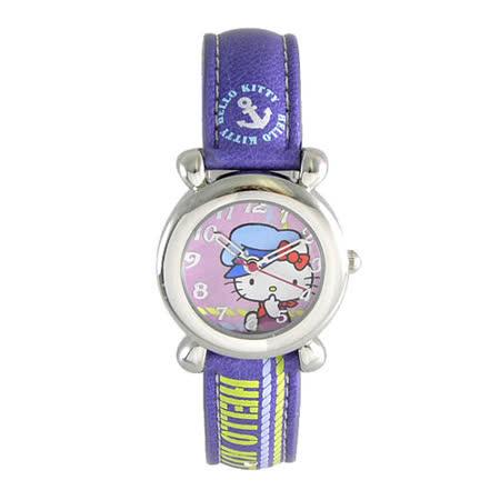 Hello Kitty進口精品時尚手錶-快樂出航(紫)