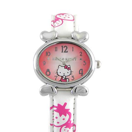 Hello Kitty進口精品時尚手錶-悠閒心情(白)
