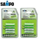 〔SAMPO〕4號低自放充電電池950mAh*8入