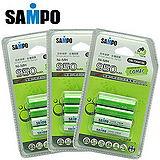 〔SAMPO〕4號低自放充電電池950mAh*12入