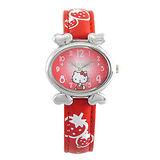 Hello Kitty進口精品時尚手錶-悠閒心情(紅)