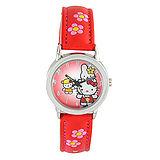 Hello Kitty進口精品時尚手錶-好朋友一起來(紅)
