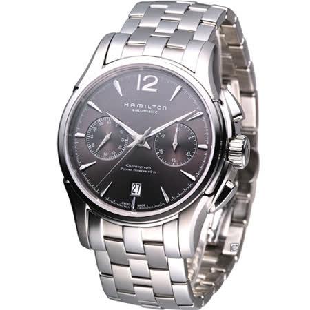 HAMILTON Jazzmaster 計時機械腕錶-(H32606185)灰面