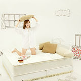 《Living》舒卡兒3線天然乳膠5尺雙人床墊