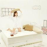 《Living》舒卡兒3線天然乳膠6尺雙人加大床墊