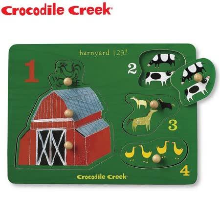 【Crocodile Creek】寶寶木製拼圖(歡樂農場)