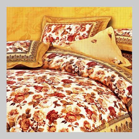 極致優雅.100%精梳棉.標準雙人床罩組全套.全程臺灣製造