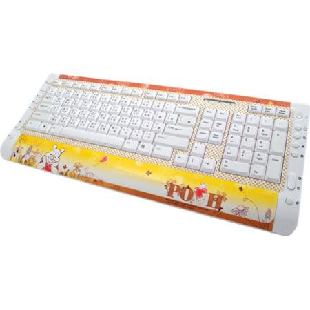小熊維尼超薄多媒體鍵盤-開心花園